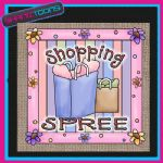 LADIES SHOPPING SPREE DESIGN ADDICT CUTE JUTE  BAG